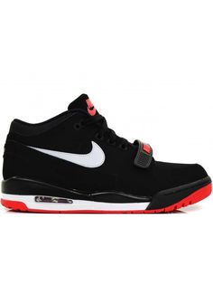 NIKE AIR ALPHALUTION HEREN SNEAKERS - ZWART ROOD