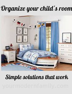 Organizing and setting up kids room - simple solutions