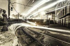 Ghost Tram by Zsolt Hlinka on Hungary, Budapest, Railroad Tracks, My Photos