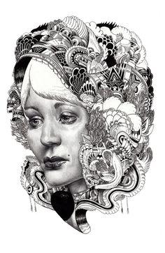 Iain Macarthur Surreal Portraits - Various detailed A3 and A2 portraits (2008-2013) http://www.iainmacarthur.com/