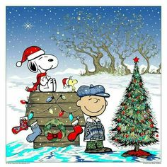 'Merry Christmas', rom Charlie Brown, Snoopy, and Woodstock.