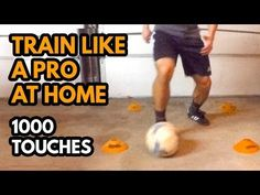 Train Like A Pro at Home 1000 Touches - Soccer workouts - Soccer Training Drills, Soccer Drills For Kids, Soccer Practice, Soccer Skills, Soccer Coaching, Youth Soccer, Kids Soccer, Soccer Tips, Play Soccer