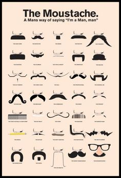 THE MOUSTACHE (A MANS WAY OF SAYING IM A MAN, MAN)