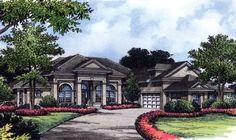 House Plan 63151 | Florida Mediterranean Plan with 3589 Sq. Ft., 4 Bedrooms, 4 Bathrooms, 3 Car Garage