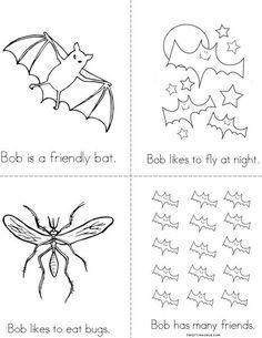 Bob the Bat Mini Book from TwistyNoodle.com