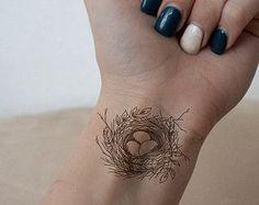 Bird Nest Tattoo Ideas Beautiful 31 New Ideas Swallow Bird Tattoos, Black Bird Tattoo, Tattoo Bird, Three Birds Tattoo, Arm Tattoo, Sleeve Tattoos, Miscarriage Tattoo, Kunst Tattoos, Small Birds