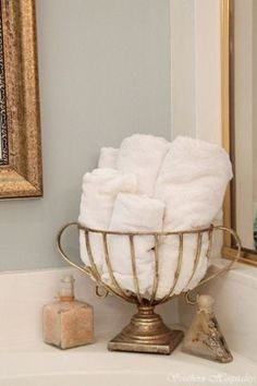 Easy Access Towels/washcloths For Guest Bath.