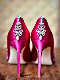 491d6544e770 hot pink wedding shoes Pink Wedding Shoes