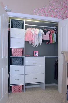 Our nursery closet inspired by a pin on Pinterest