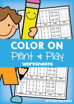 Color On Print and Play Worksheet FREE