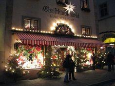 The best Christmas store ever, Kathe Wohlfahrt's Christkindlmarkt, Rothenburg, Germany.