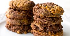 Vegan Double Chocolate Peanut Butter Cup Cookies