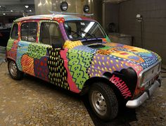 CODICE TUNA : Photo Car Paint Jobs, Old School Cars, Weird Cars, Car Painting, Van Life, Art Cars, Super Cars, Graffiti, Automobile