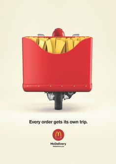 print campaign McDonalds treats every order as an individual delivery. Every Order Get Its Own Trip campaign Food Advertising, Creative Advertising, Advertising Poster, Advertising Design, Advertising Campaign, Creative Poster Design, Ads Creative, Creative Posters, Drive In