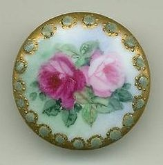 antique porcelain button