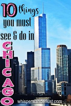 10 Things you must see & do in Chicago, Illinois Must Do In Chicago, Visit Chicago, Chicago Travel, Chicago Trip, Chicago Vacation, Usa Travel Guide, Travel Usa, Travel Guides, Travel Tips