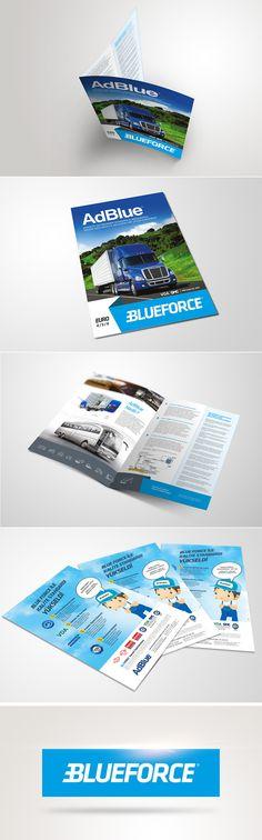 Amc Adblue Brochure by Sedat Gever, via Behance