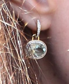 HRH the Duchess of Cambridge wearing a pair of diamond and green amethyst earrings from Kiki McDonough.