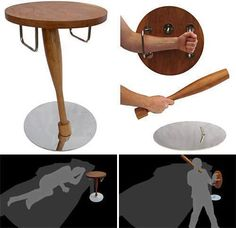 Forget about the part of this graphic which shows this as a bedside table. I think the initial concept was to ward off zombies. Zombies are lame, get over them. This table should be in bars, the… Home Defense, Self Defense, Zombie Apocalypse Survival, Zombie Apocolypse, Zombie Apocalypse House, Nuclear Apocalypse, Diy Home Security, Cool Gadgets, Tech Gadgets