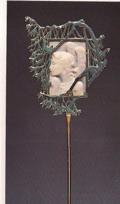 Lalique  'Angel in Profile' Pin. 'Jewels of Laliique'  Yvonne Brunhammer