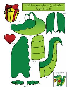 """""""Swamped in Faith"""" alligator craft for Cain & Abel lesson."""