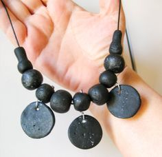 Black Ethno Tribal Bohemian Necklace Chunky by totalhandmadeD, $20.00