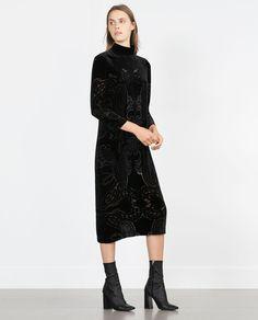 LONG VELVET DRESS