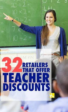 32 Retailers That Offer Teacher Discounts Teacher Summer, Back To School Teacher, Best Teacher, School Stuff, Teacher Freebies, Teacher Resources, Discounts For Teachers, First Year Teaching, Teaching Ideas