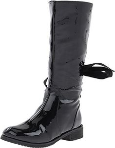 Amiana Girl's 6-A0813 (Toddler/Little Kid/Big Kid/Adult) Black Crinkle Patent Boot 29 (US 12 Little Kid) M Amiana http://www.amazon.com/dp/B00CTA3J9S/ref=cm_sw_r_pi_dp_8Vl2vb1HPMPCJ