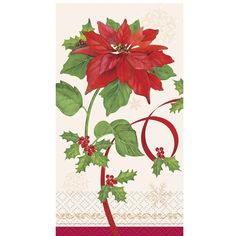 16 Count Poinsettia Joy Guest Napkins *** Check this awesome product by going to the link at the image. (This is an affiliate link) Party Stores, Party Tableware, Program Design, Poinsettia, Party Supplies, Napkins, Joy, Seasons, Count