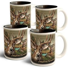 American Expedition Whitetail Deer Collage Coffee Mugs 4 Set -- To view further for this item, visit the image link.(This is an Amazon affiliate link and I receive a commission for the sales)