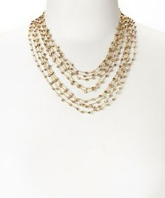 Another great find on #zulily! Gold Beaded Multi-Strand Necklace by ZAD #zulilyfinds