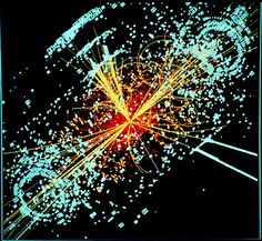 Why Stephen Hawking Thinks the 'God Particle' Could End the Universe By Kelly Dickerson, Staff Writer   |   September 08, 2014 Simulated data from the Large Hadron Collider particle detector shows the Higgs boson produced after two protons collide.Credit: CERN