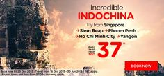 Lets explore the Incredible Indochina ! Fly to fantastic holiday destination in Indochina start from $37 More info : http://ow.ly/VSVCv  #CheapFlights #AirAsia #Airpaz #Singapore #Promo #Travel #Indochina #YearEnd #Traveling #Backpacker #Holiday #NewYear #Vacation #Backpacking #Trip