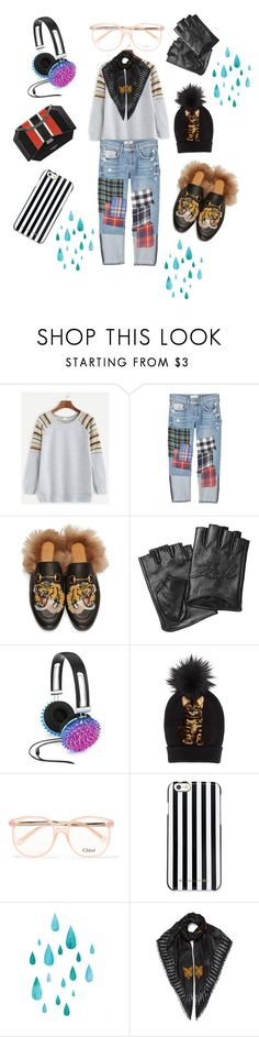 """Edge of the cliff"" by glamorous-travel on Polyvore featuring MANGO, Gucci, Givenchy, Karl Lagerfeld, Celebrate Shop, Dolce&Gabbana, Chloé and MICHAEL Michael Kors"