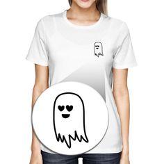 Cute Pocket Ghost T-shirt Halloween Tee Cute Shirt For Scary Night