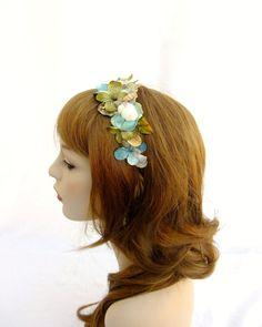 Flower Crown Flower Headband Mermaid Crown Blue by RuthNoreDesigns, $18.00