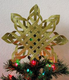 Woven Paper Tree Topper – Happiness is Homemade