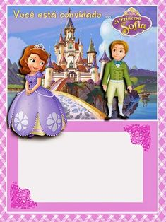 Sofia the First Free Printable Invitations or Photo Frames. Birthday Dinner Invitation, Funeral Invitation, Bridal Shower Invitation Wording, Dinner Invitation Template, Free Wedding Invitation Templates, Free Printable Invitations, Princess Sofia Invitations, Princess Sofia Birthday, Princess Sophia