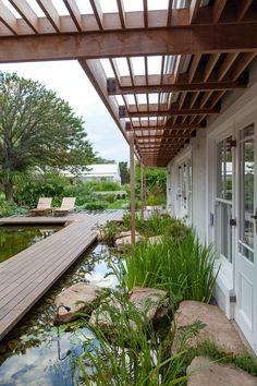 Designer: Carrie Latimer Style: Water Garden Type: Private Garden Area: Cape Town Garden Types, Private Garden, Water Garden, Carrie, South Africa, Pergola, Outdoor Structures, Outdoor Pergola, Water Gardens