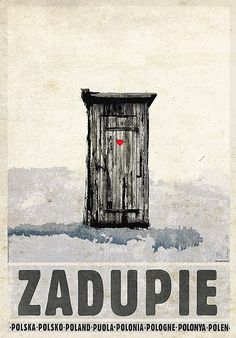 Polish outhouse poster by Ryszard Kaja