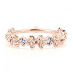 Tanzanite Pink sapphire Diamond Ring