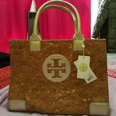 Tory Burch Gold  Cork Ella Tote Bag NWT Cork Ella Tote Bag from Tory Burch! Rare and beautiful! Authentic!!! Tory Burch Bags Totes