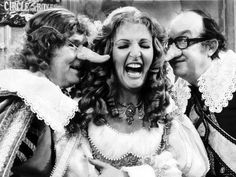 Eric Morcambe and Ernie Wise with guest Penelope Keith in another play what Ernie wrote on The Morcambe and Wise Show.