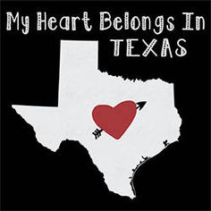 native t-shirts My heart belongs in TEXAS state city home city