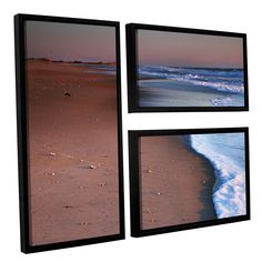 Alone Not Lonely by Steve Ainsworth 3 Piece Floater Framed Photographic Print on Canvas Set