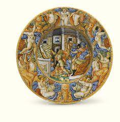 A Castel Durante istoriato dish<br>circa 1540-1560 | lot | Sotheby's