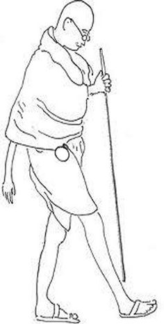 gandhiji standing coloring pages - photo#4