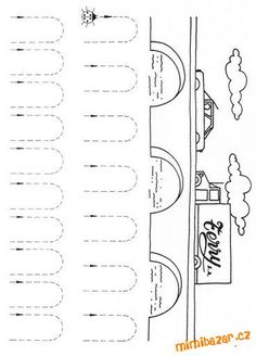 AKTIVITY S DĚTMI - Pro předškoláčky - pracovní listy pro děti - pro zahnání dlouhé chvíle Kindergarten Games, Preschool Writing, Preschool Learning Activities, Arabic Alphabet For Kids, Diy Crafts For Kids Easy, Kids Math Worksheets, Pre Writing, Math For Kids, Coloring For Kids
