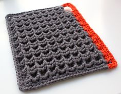 Crocheted Potholders. I see an iPad cover in this - I didn't see a pattern on this page but I have a baby blanket pattern that is very similar *Inspiration*